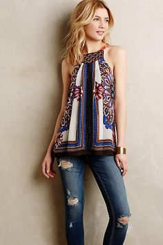 IF I could find the right fabric... Nala Tank - anthropologie.com