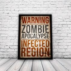 Zombie Apocalypse  A3 Home Decor Poster by YouMotherPunker on Etsy, $15.50