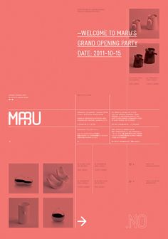 Maru opening poster via Toshio Miyake. Great composition.