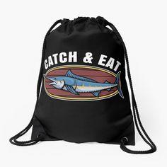 Eat Sleep Fishing Turnbeutel Fun Fish Sea Angler Rod and Line Sports Angeln