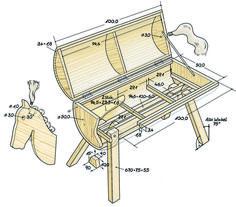 Die Skizze zu unserem Holzpferd