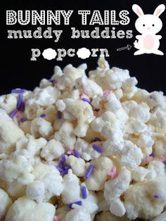 sweet, salti, buddi popcorn, food, easter popcorn, muddi buddi, bunni tail, recip, easter treats