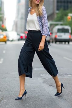 Proof You Shouldn't Be Afraid of Culottes via @PureWow