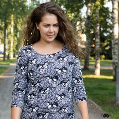 PaaPii Design USVA shirt, Virkku Black And White, Design, Shirts, Tops, Women, Fashion, Moda, Black N White, Fashion Styles