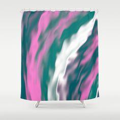 Cold flames by Natalia Bykova Shower Curtain on Society6. #Society6, #showercurtain, #bathroomdecor, #abstractcolors, #coldcolors, #bathdecor