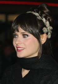 Zooey Deschanel-cute bangs and side pieces