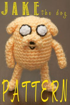 Such an adorable pattern for Jake the Dog from Adventure Time. Crochet. Amigurumi. #crochet #amigurumi