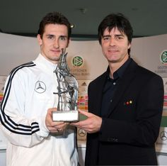 "(Miroslav Klose & Joachim Löw) In 2005 Klose received a fair play award and said: ""It's a big honour for me to receive this award. But I am also a bit irritated. For me, it was something you should always do. I would do it again - always."""