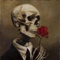 "Amazon.de: Riccardo Bianchi di Bianchi Gianna ""Die rote Rose"" Ölgemälde, 40 x 40"