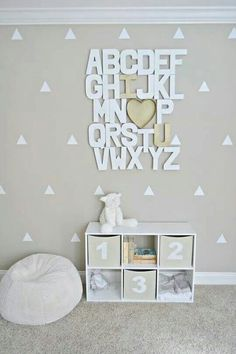 Abc - I ♡ u wall art