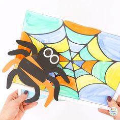 3 GIANT HALLOWEEN SPIDER Scratch Art FRIDGE MAGNETS for Kids Design Craft Gift
