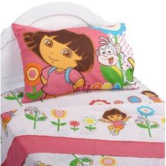Dora the Explorer Cheerful Bloom Full Sheet Set Dora And Friends, Kids Sheets, Dora The Explorer, Nightlights, Kids Bedroom, Bedroom Ideas, Little Princess, Sheet Sets, Cheer