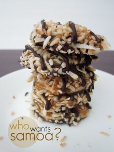 Girl Scout Samoa Cookies Recipe Makes approx 24 cookies Gluten, dairy, and egg free