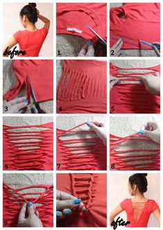 Real Asian Beauty: DIY : T-Shirt Weaving / Laddering