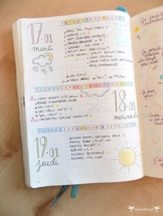 My Bullet Journal in 2017 ⋆ ZunZún - Female. Bullet Journal How To Start A, Bullet Journal Layout, Bullet Journal Inspiration, Journal Pages, Journal Ideas, Bullet Journals, Daily Journal, Bujo, Diy Agenda
