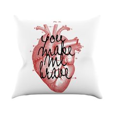Brave Heart Throw Pillow #heart