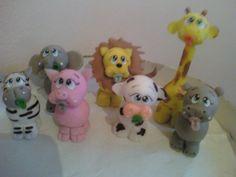 Animalitos En Porcelana Fria  By Maria Elena Lopez  Cumpleaños Nacimiento Bautismo -