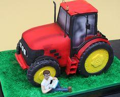 Tractor Groom's Cake
