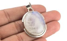 "Moonstone Pendant, Blue Flash Moonstone Jewelry   Product Description  Beautiful ""Moonstone Ring"" made with love using 100% pure sterling silver and natural gemstones. The ring is perfect to..."