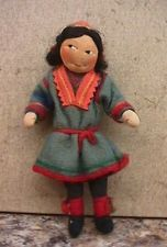 Vintage 1930s Ronnaug Petterssen Girl Doll w Kimport tag - Norway