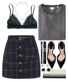 """#686 Emeline"" by blueberrylexie ❤ liked on Polyvore featuring Madewell, Topshop, Steven Alan, Zara, Christian Dior, GHD, Japonesque, Cara, Smashbox and Korres"