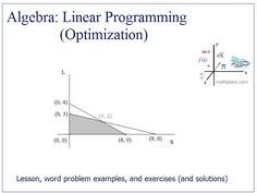 15 Best linear programming images in 2014 | Linear programming
