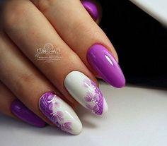 Nail Shapes - My Cool Nail Designs Two Color Nails, Nail Colors, Fabulous Nails, Perfect Nails, Nail Art Fleur, Vacation Nails, Best Nail Art Designs, Super Nails, Nagel Gel