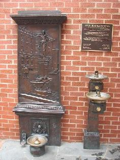 A fountain for dog and master in Downtown Frederick Md
