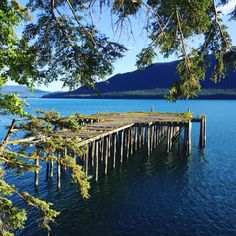 DuPont Beach in Juneau, Alaska. Abandoned docks and pilings are a common site from all of the mining history.