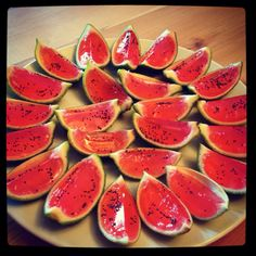 Watermellon vodka Jell-o shots