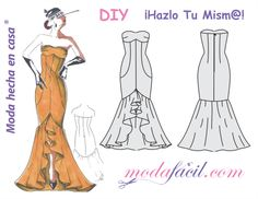 Free download Flamenco dress patterns available in 12 sizes ready to put on the fabric and cut