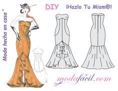 Molde vestido de fiesta flamenca