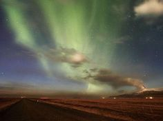 Eyjafjallajökull, Iceland In April 2010 the huge Iceland eruption combined with the Northern Lights for this spectacular photograph. / Getty Images