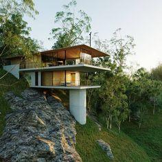 Architectural Design House Plans, Modern Architecture House, Modern House Design, Architecture Design, Tree House Designs, Village House Design, Container Home Designs, Casa Loft, Hillside House