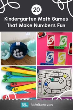 Kindergarten math students will learn to count to 100, identify shapes, compare numbers, and more with these fun games. Number Games Preschool, Kindergarten Science Activities, Geometry Activities, Numbers Kindergarten, Cognitive Activities, Number Activities, Teaching Kindergarten, Printable Math Games, Free Printable Puzzles