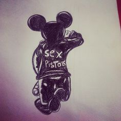 it all started with a mouse. disney drawing i did a while ago in school Disney Drawings, Darth Vader, Homemade, School, Fictional Characters, Hand Made, Do It Yourself, Fantasy Characters, Disney Paintings
