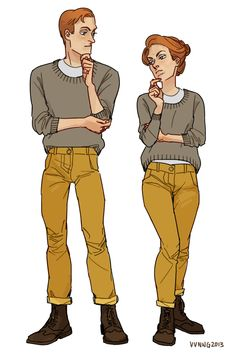The Lutece Twins in more modern outfits. Bioshock Infinite