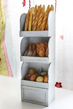 Simplystella's Sketchbook: Miniatures - bakery bread shelves