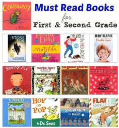 Beat the summer blues with great books to read.  This must read book list is perfect for First and Second Grade, but can be read with younger and older children.