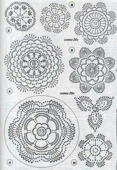Study In Circles Crochet Motif Table Runner Pattern Crochet Diagram, Crochet Motif, Crochet Doilies, Crochet Stitches, Knit Crochet, Irish Crochet, Crochet Flower Tutorial, Crochet Flower Patterns, Crochet Flowers