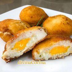 Huevos encapotados - Divina Cocina  Pinterest | https://pinterest.com/elcocinillas/