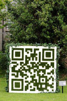 Green #QR code. #nature #qrcode