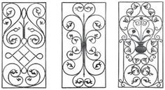wrought iron panel - Google Search