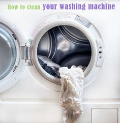 How to Clean a Front Loader Washing Machine- run a empty load with hot water and 2c of vinegar, then with warm water and 2c of bleach, then clean soap/bleach dispenser and rubber seal