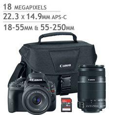 Canon EOS Rebel SL1 DSLR Camera 2 Lens Bundle.  $599 after rebate.