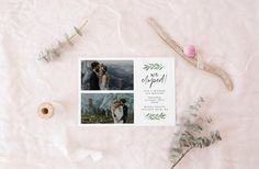 printable elopement announcement card  wild elopement