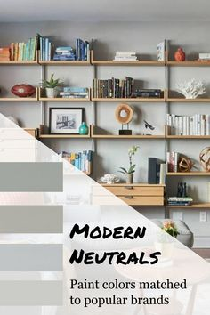 Modern Neutral interior paint color schemes and ideas perfect for bedroom and living rooms