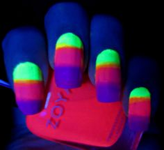Glow In The Dark Break A Stick And Put It Clear Nail Polish