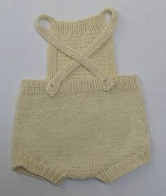Free Knitting Pattern - Baby Knits: Leslie - Baby Sunsuit