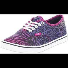 Vans off the wall pink & purple animal print shoes Wild and fun shoes! Great to make a statement. Excellent condition, barely worn. Price negotiable. Picture compliments of Amazon. Vans Shoes Sneakers